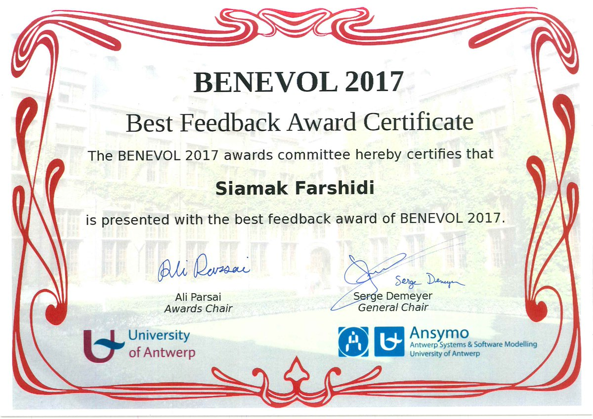 benevol2017 on twitter the award certificates are ready to go to