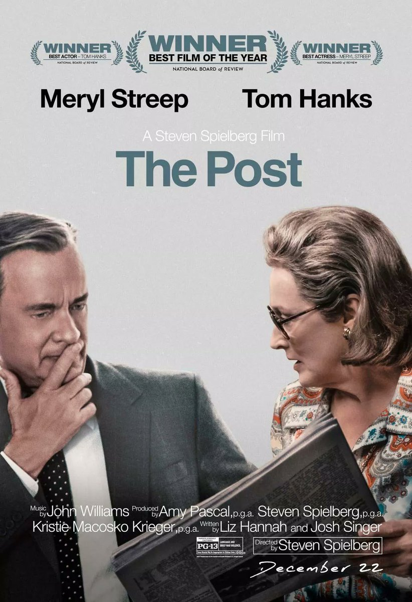 """Tu Blog de Cine a Twitter: """"'The Post' Nuevo póster Tom Hanks y Meryl  Streep bajo la batuta de Steven Spielberg. el escándalo desatado en el año  1971 después de la decisión"""