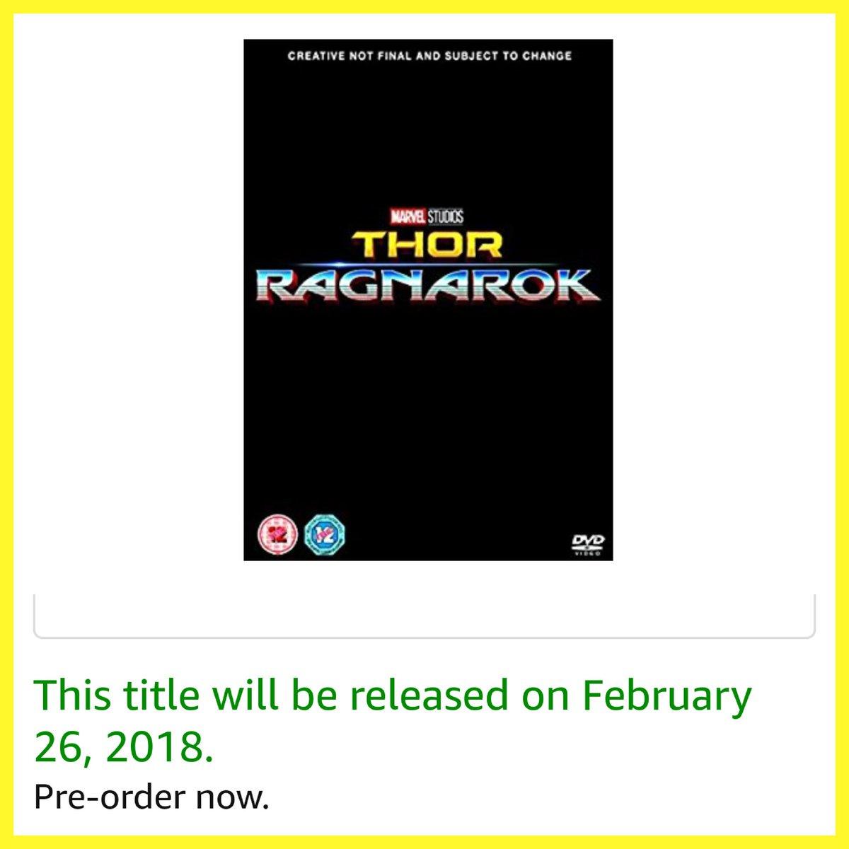 Chris Hemsworth Fans On Twitter Thor Ragnarok Dvd Release Date For The Uk Announced Credit Amazon Chrishemsworth Thorofficial Hemsworthsfans Teamchris Teamthor Thorragnarok Https T Co 53jjlgwo9x