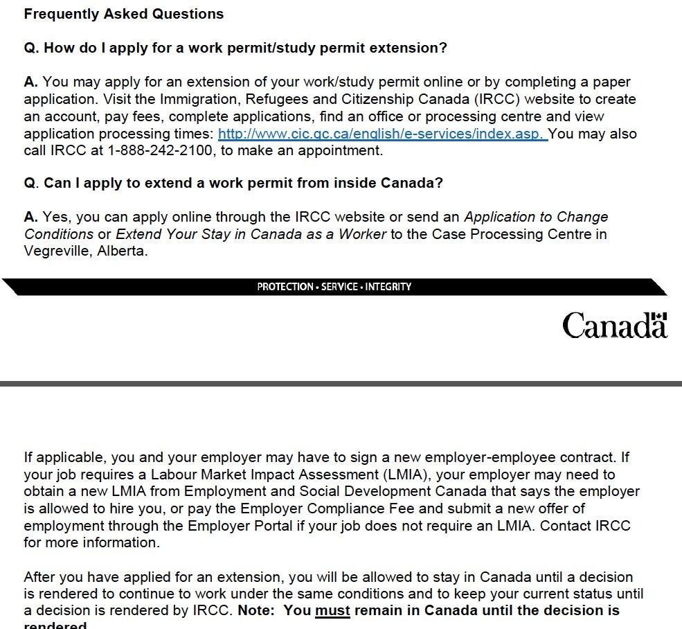 work permit extension application pdf canada