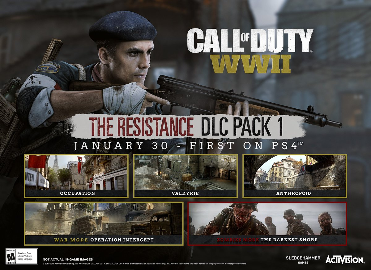 Call of Duty: WWII The Resistance DLC