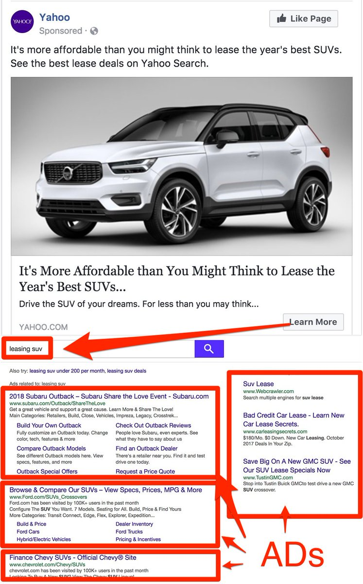 Results Pages For Either Suv Leasing Or Deals Subaru Ford And Chevy Are Curly Paying Top Ads You Need To Take The 1 Ad Spot
