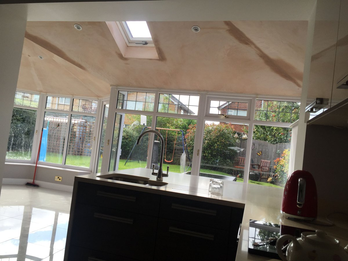 Fully Extended Living Space, Continuing The Kitchen Into The Old  Conservatory   Transformed For All Year Round Use. Just The Painting Left  To Do.