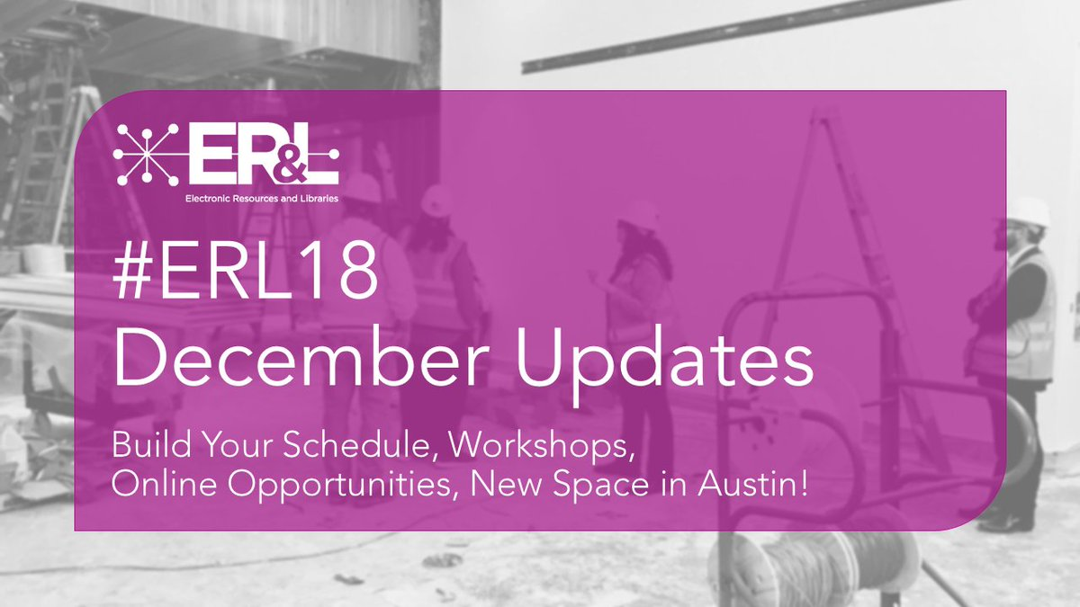 er l on twitter erl18 latest updates build your schedule