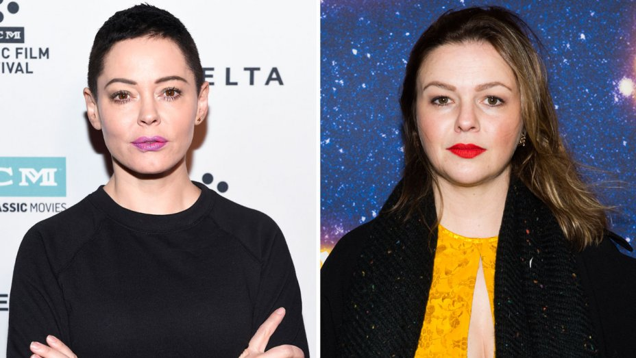 Rose mcgowan and amber rose