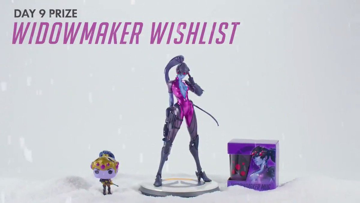 #HappyHeroDays! 12 prizes, 12 days.   DAY 9: Widowmaker's Wishlist. RT to enter to win the sweepstakes!   📜 http://blizz.ly/HappyHeroDays