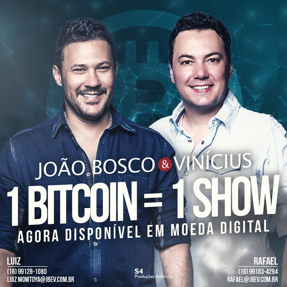 Dupla sertaneja João Bosco & Vinícius começa a vender shows com bitcoin https://t.co/MwO5tjz7ER