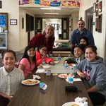 #swd123 Pizza with the principal (and Mr. Fahey) was lots of fun today! What started as a basketball challenge turned into a super lunch with great students and a spectacular game of Uno!