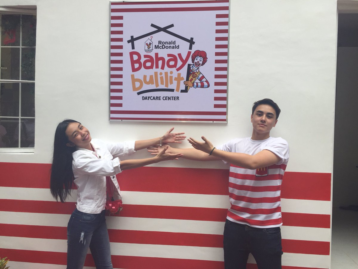 LOOK: Maymay Entrata and Edward Barber at their first Bahay Bulilit turnover - a learning center for kids. Their foundation ELM Tree Foundation partnered with RMH Charities   via
