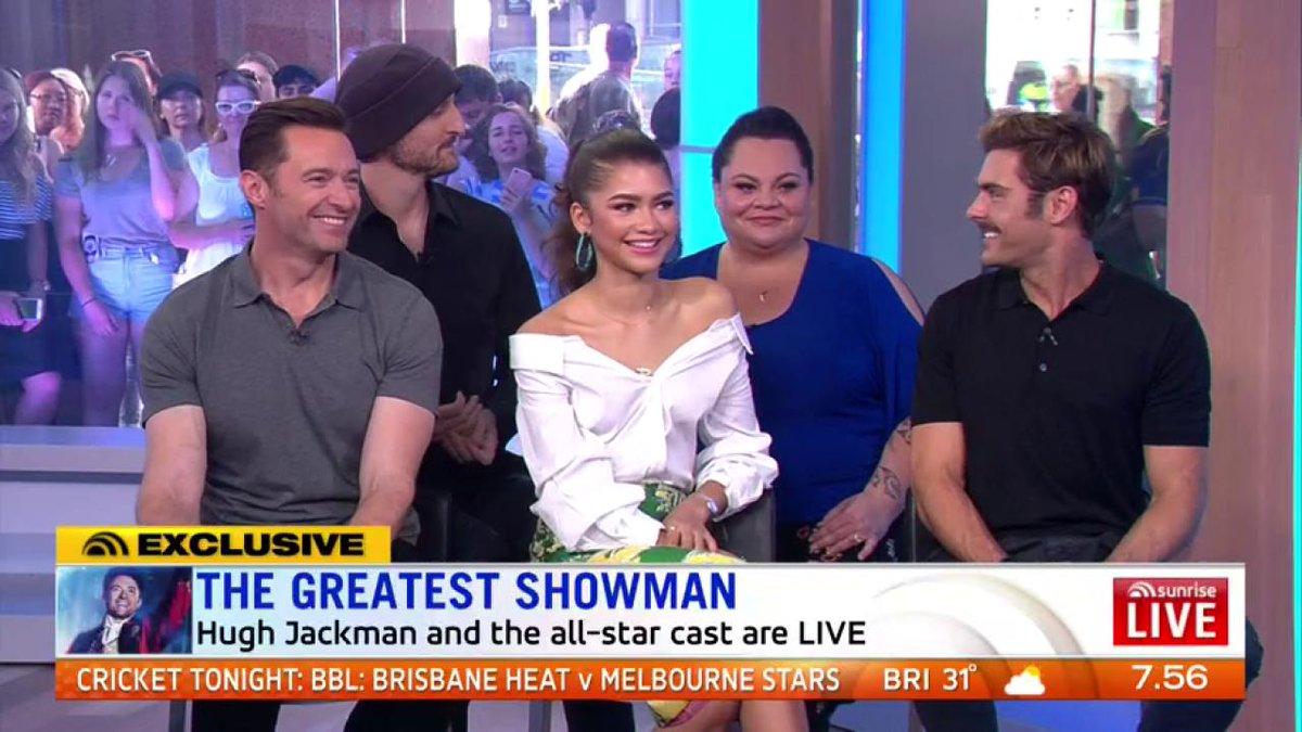 Aussie Michael Gracey : GreatestShowman cast film Aussie
