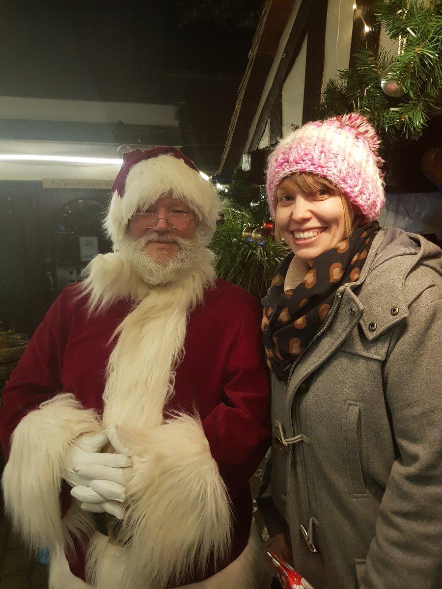 Katie meets Santa. #Santa #Christmas