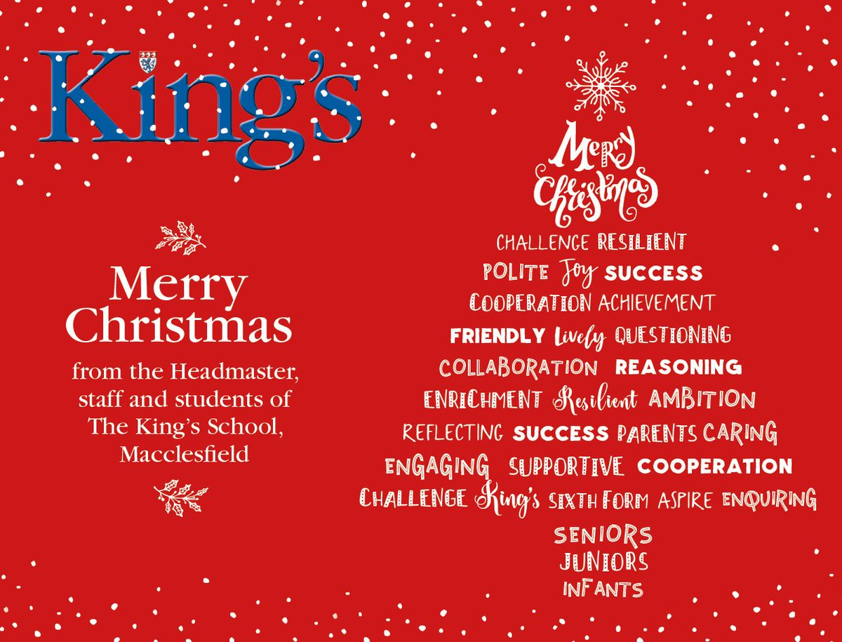 The King S School On Twitter Merry Christmas Everyone Have A