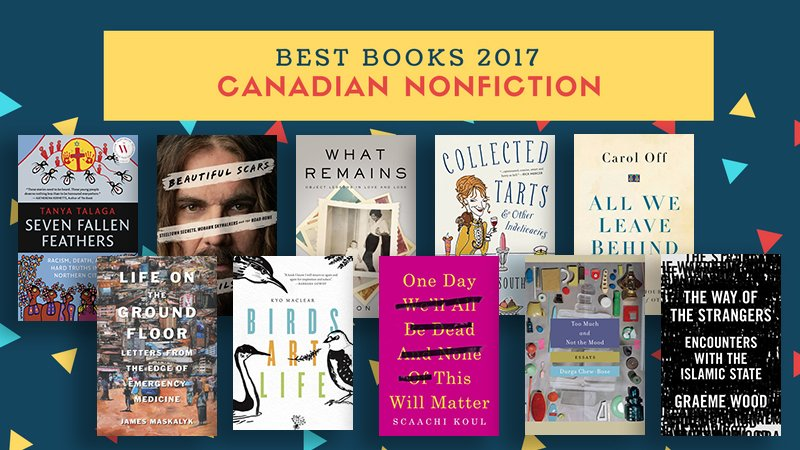Cbc Books On Twitter Here Are The Best Canadian Nonfiction Books