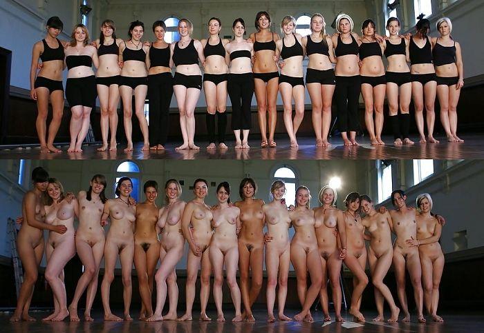 Junge girls nackt und angezogen