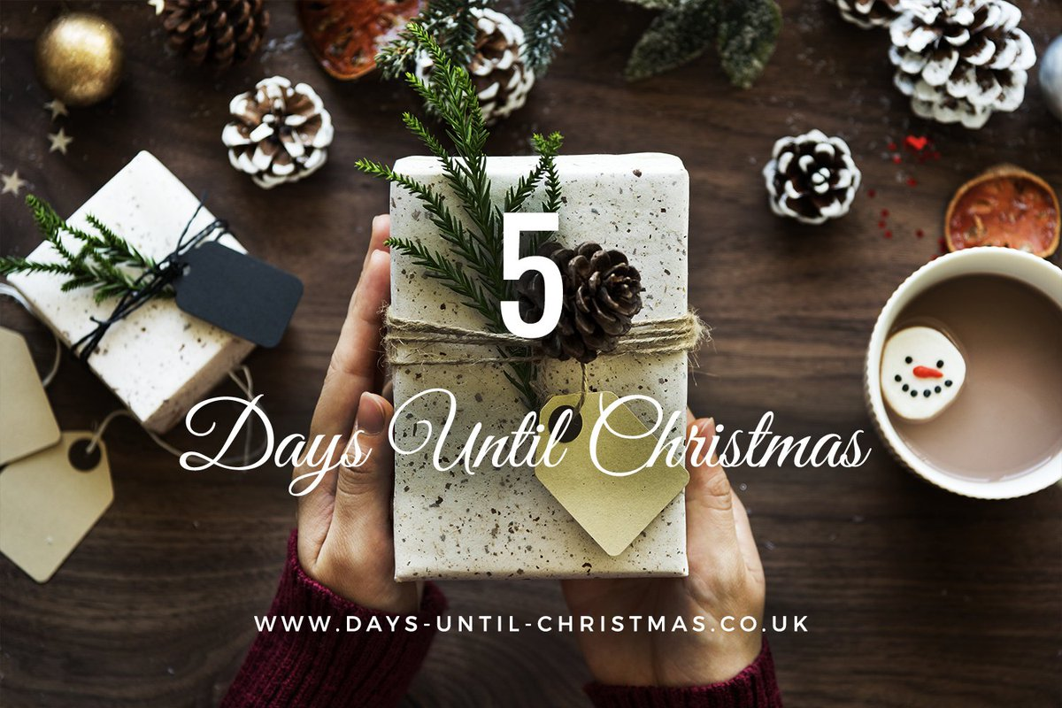 Days Till Christmas Uk.Days Until Christmas On Twitter Another Day Down 5 More