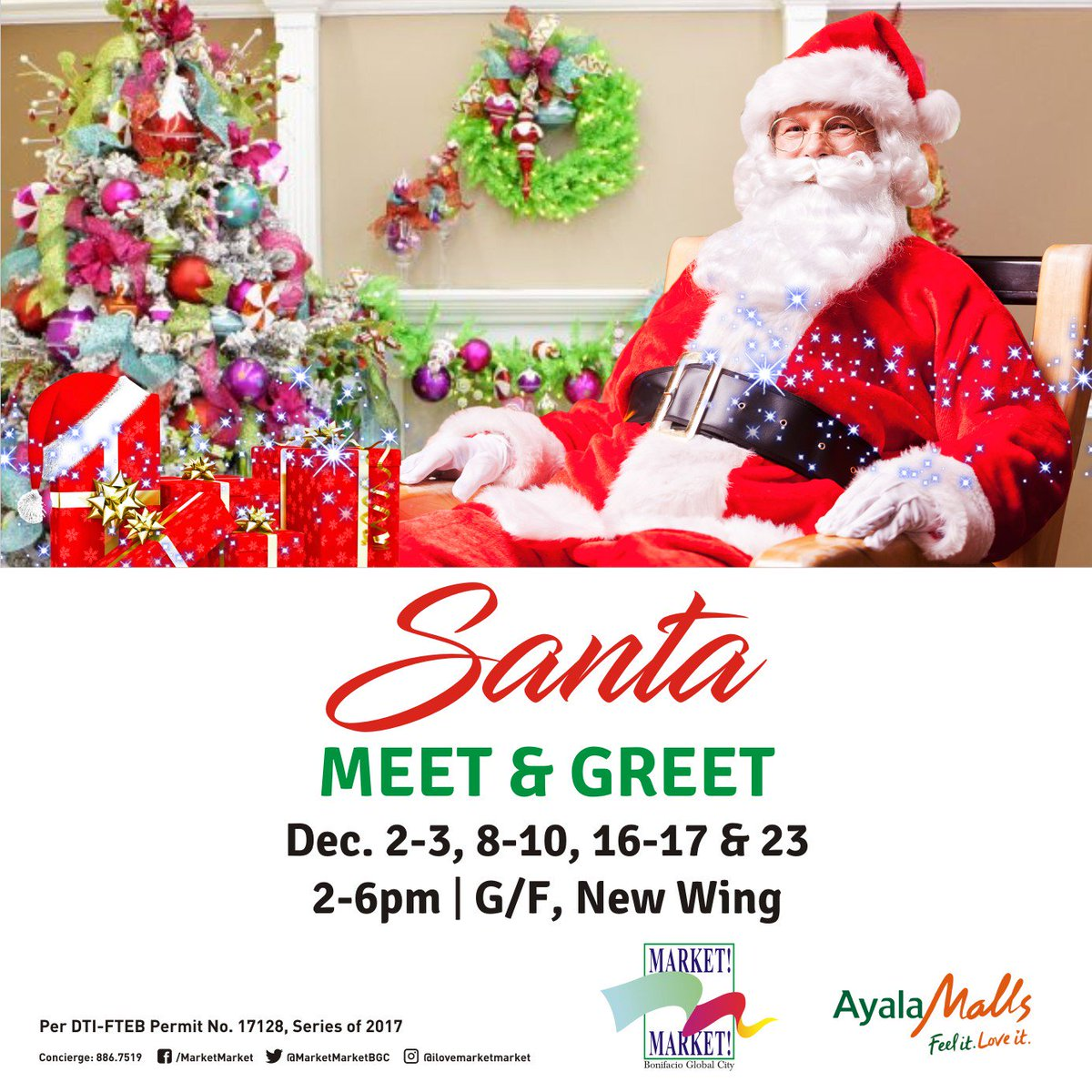 Market Market On Twitter Bond With The Family With Santa Meet