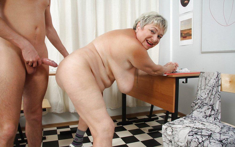Fat bottomed senior lady strips