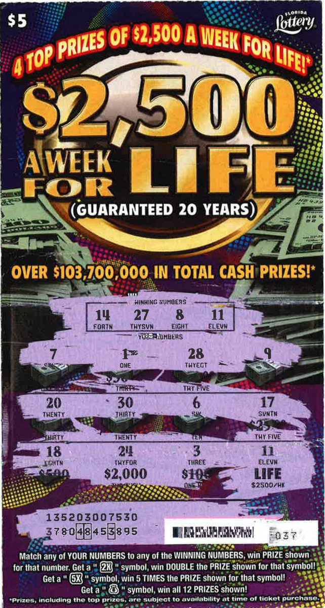 Florida Lottery On Twitter Rt To Congratulate Chernea Mack From El Portal For Claiming A Top Prize From The 2 500 A Week For Life Scratch Off Game Https T Co 9ynfaqgxps