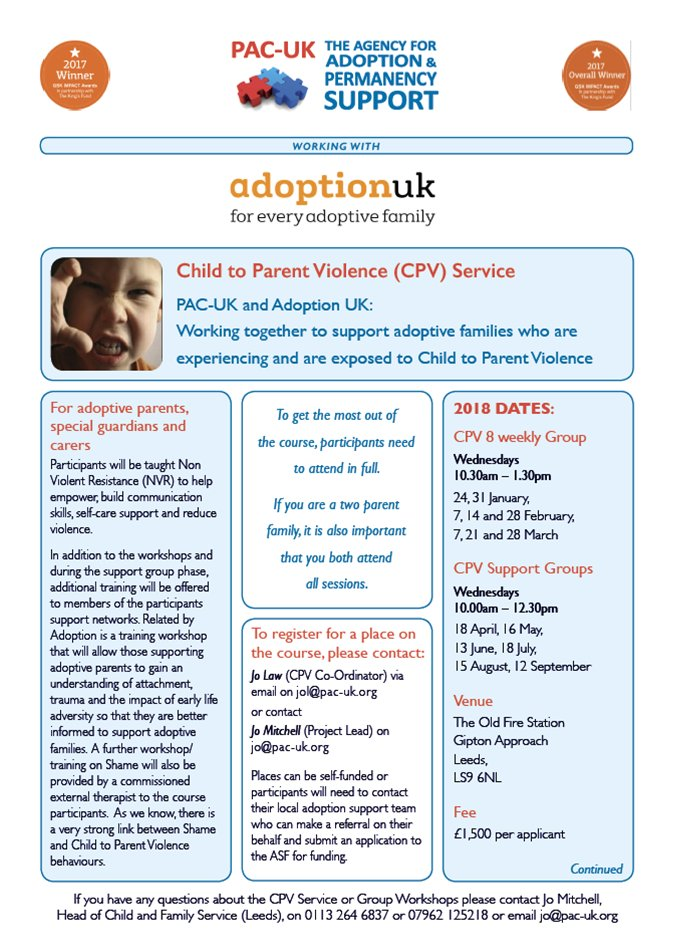 """PAC-UK on Twitter: """"INCOMING: @PACUKadoption launches NEW.."""