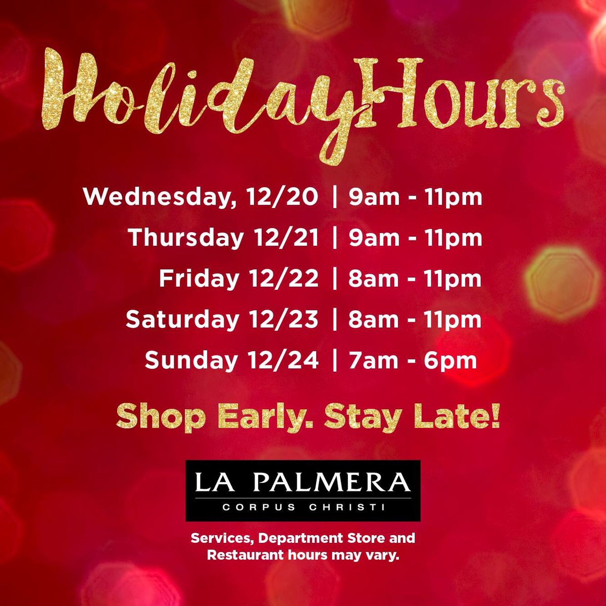 la palmera on twitter how many days until christmas 5 only make sure to take advantage of our extended hours now thru december 24th - How Many Days Christmas