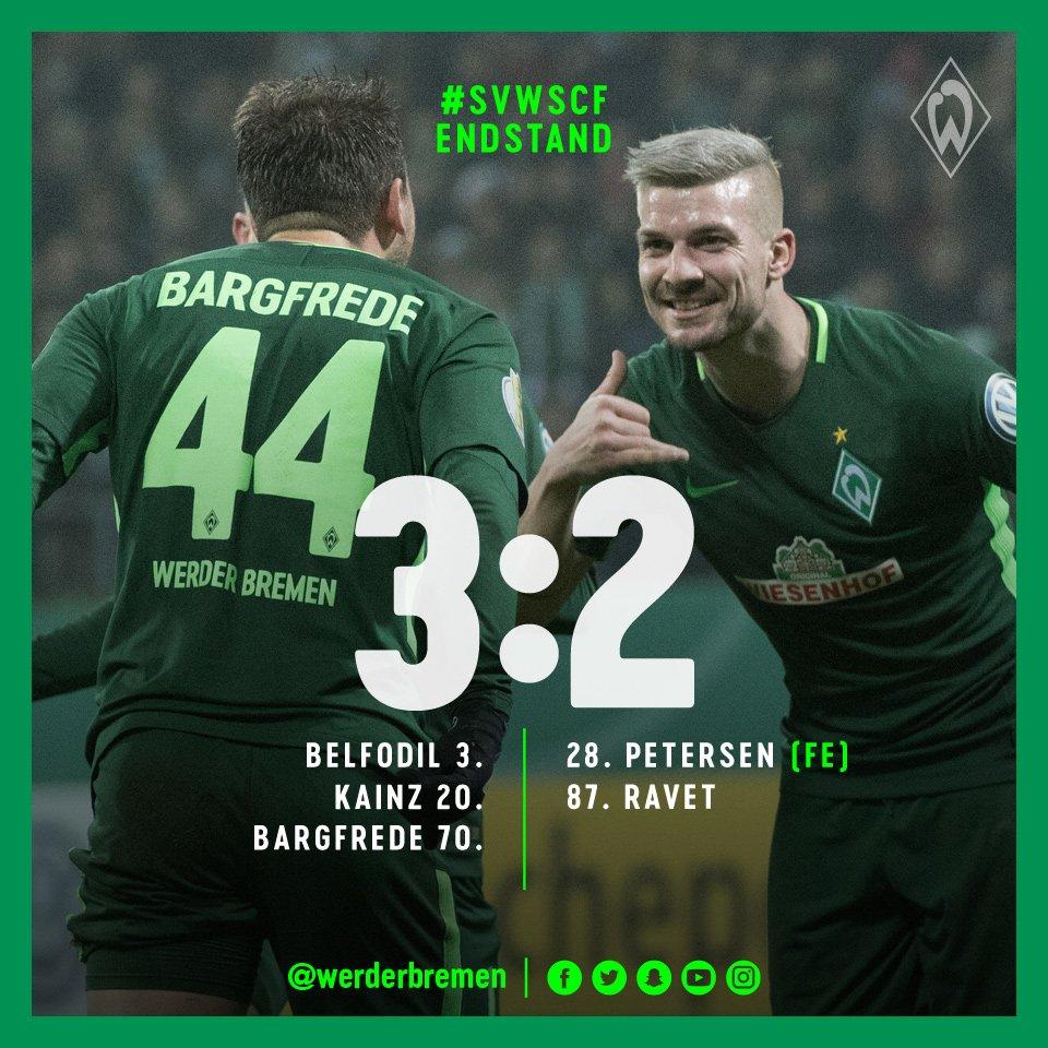Frohe Weihnachten Werder Bremen.Sv Werder Bremen On Twitter 90 Min Ende Viertelfinale