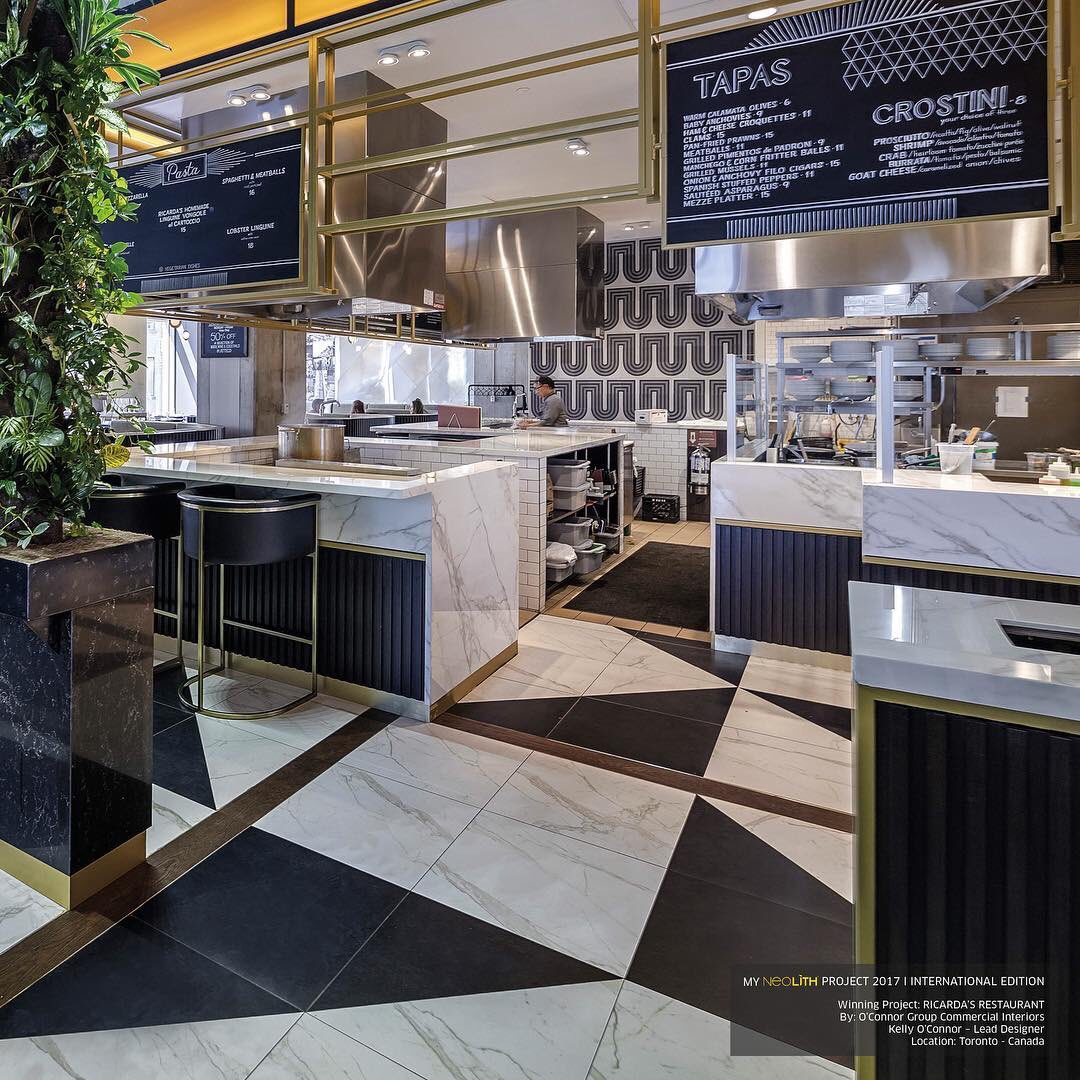 #MarbleTrend is proud to be the suppliers of #Neolith Calacatta at  Ricarda's Restaurant,