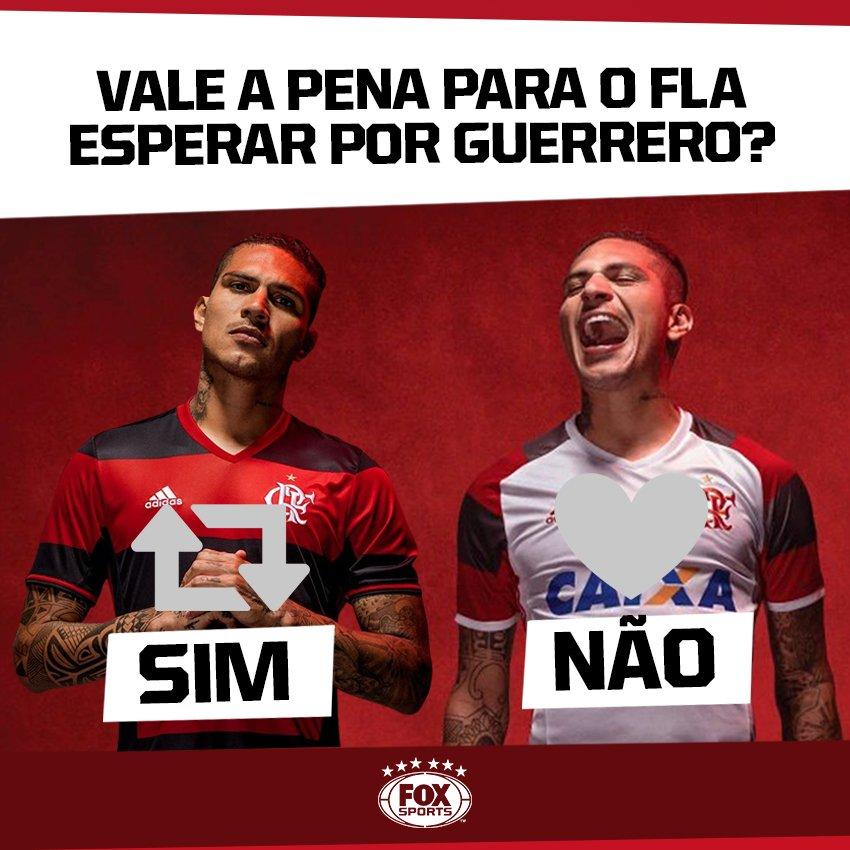 🔴⚫️ Vale a pena para o @Flamengo esperar até maio de 2018 por Guerrero?  🔁 SIM, TEM QUE FICAR ❤️ NÃO, PODE IR