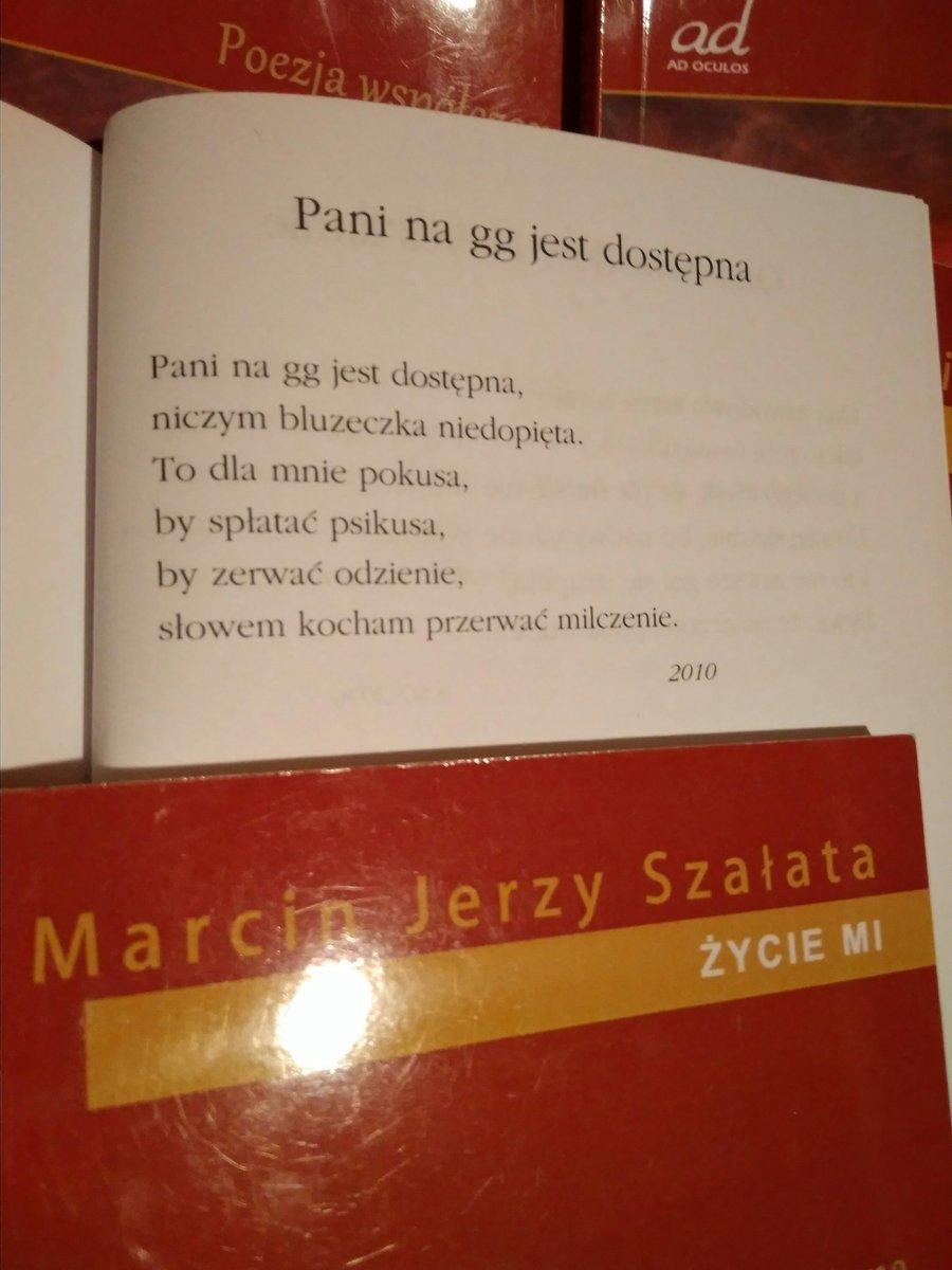 Marcin Jerzy Szałata On Twitter Wiersz Pt Pani Na Gg