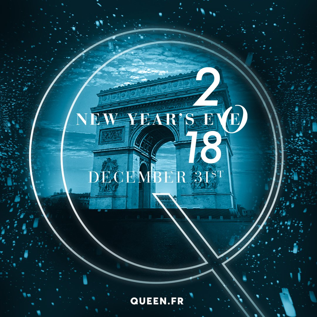 Queen Nightclub requests the pleasure of your compagny for a special New Year's Eve.  #NYE2018   Presales on line 30€ + drink https://t.co/MU8YazyOuv https://t.co/ORYvckG6rJ