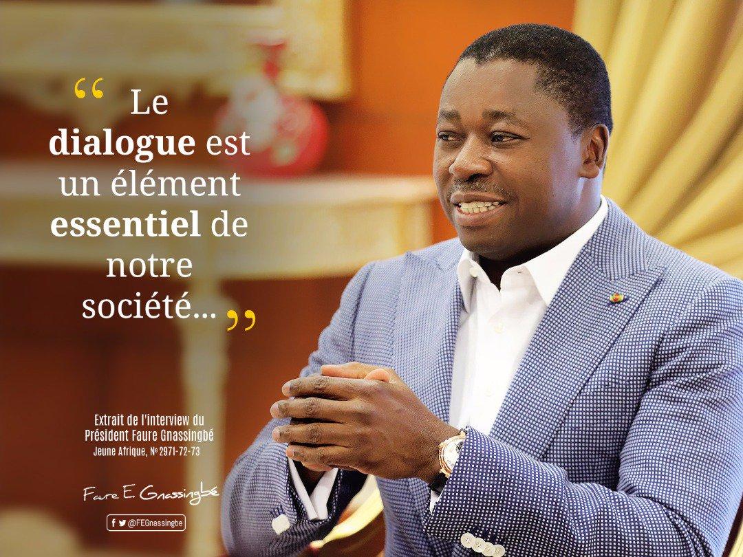 Image result for jeune afrique Faure gnassingbé