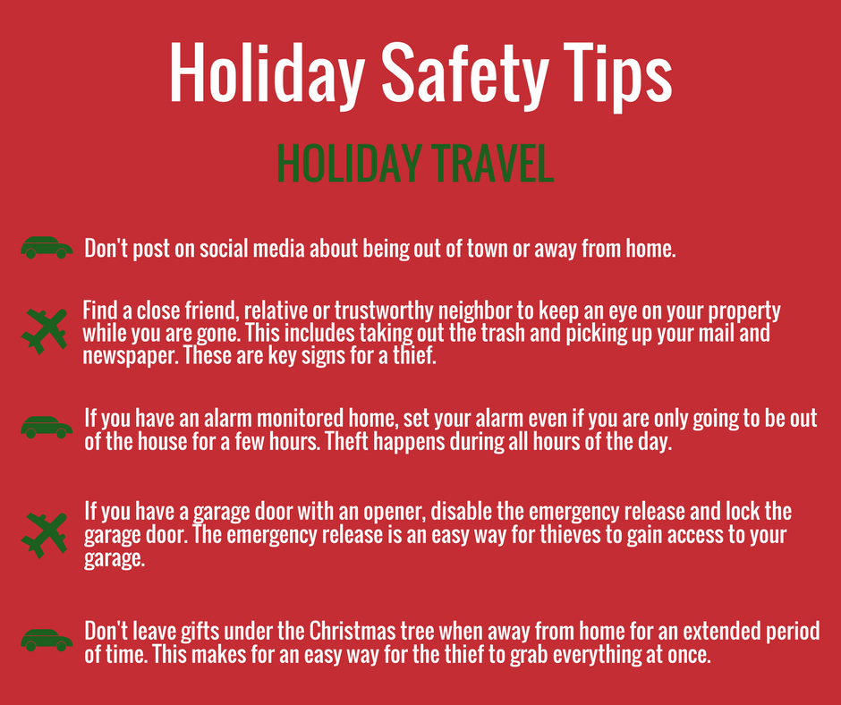 HOLIDAY SAFETY TIP Many Of You Are Gearing Up To Travel For The Holidays Here Some Tips Help Prevent Home Burglary This Holiday Season