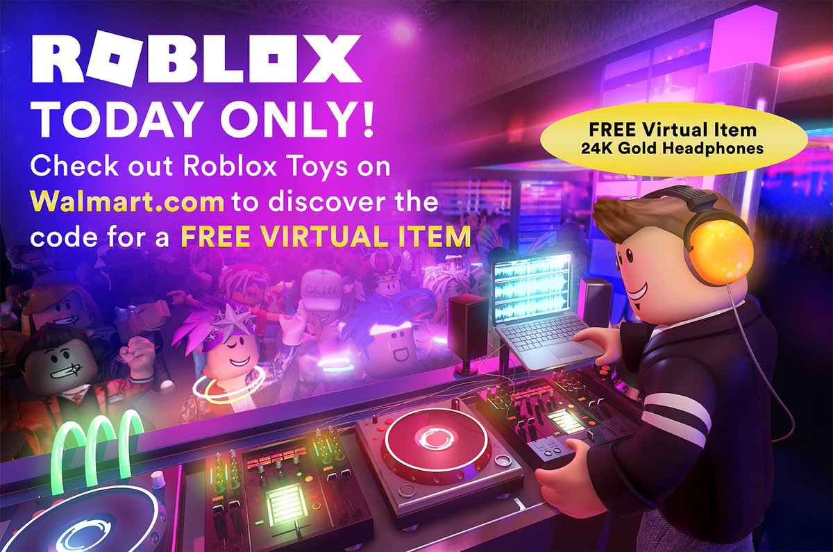 Roblox On Twitter Today Only Get Free Exclusive Virtual - 2 phones roblox code