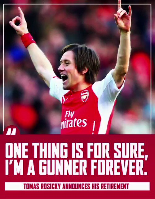 'One thing is for sure, I'm a Gunner forever.' We love you, Super Tom 🔴
