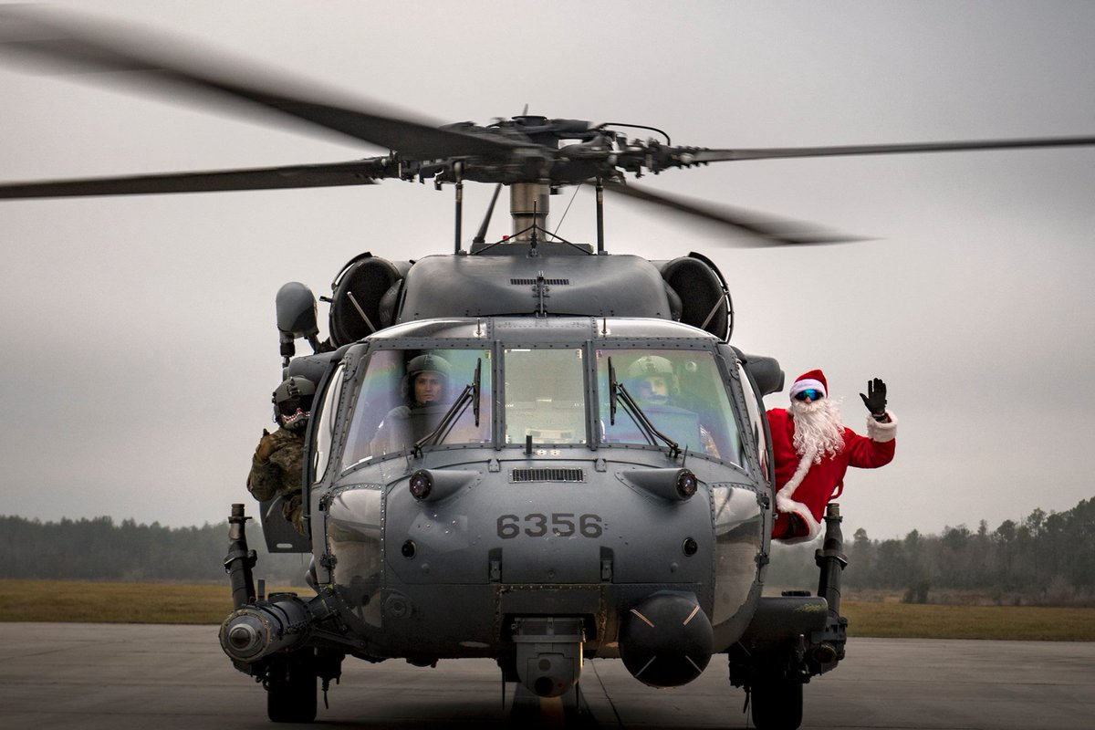 When you have a mission at 1100 and need to start delivering presents at 1500! Help us #captionthis #AirForce photo!