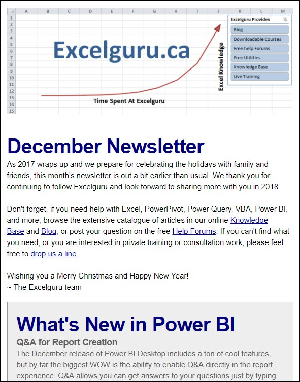 Ken puls fcpa fcma on twitter our dec newsletter is out coupon code to save 200 on our next powerbi boot camp not a subscriber visit httpxlgurunewsletter and also get our free diy bi ebook fandeluxe Images