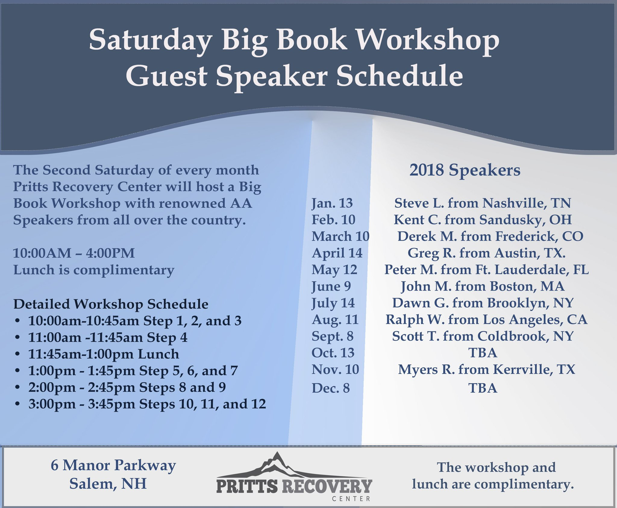Granite Recovery On Twitter The 2018 Schedule Is Filled With Great Speakers For Saay Book Works At Pritts Center
