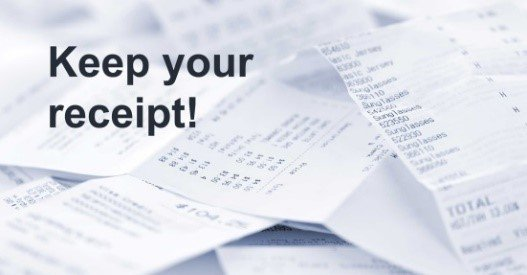 Keep Your Receipts to Help Manage Money