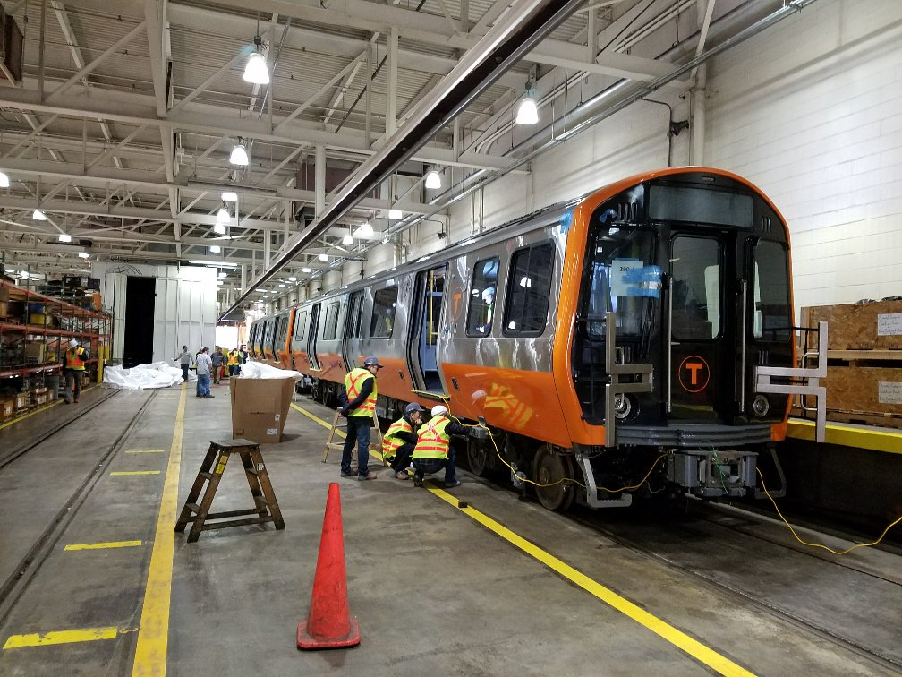 Mbta on twitter mbta employees inspect new orangeline cars after mbta on twitter mbta employees inspect new orangeline cars after their arrival today sciox Gallery