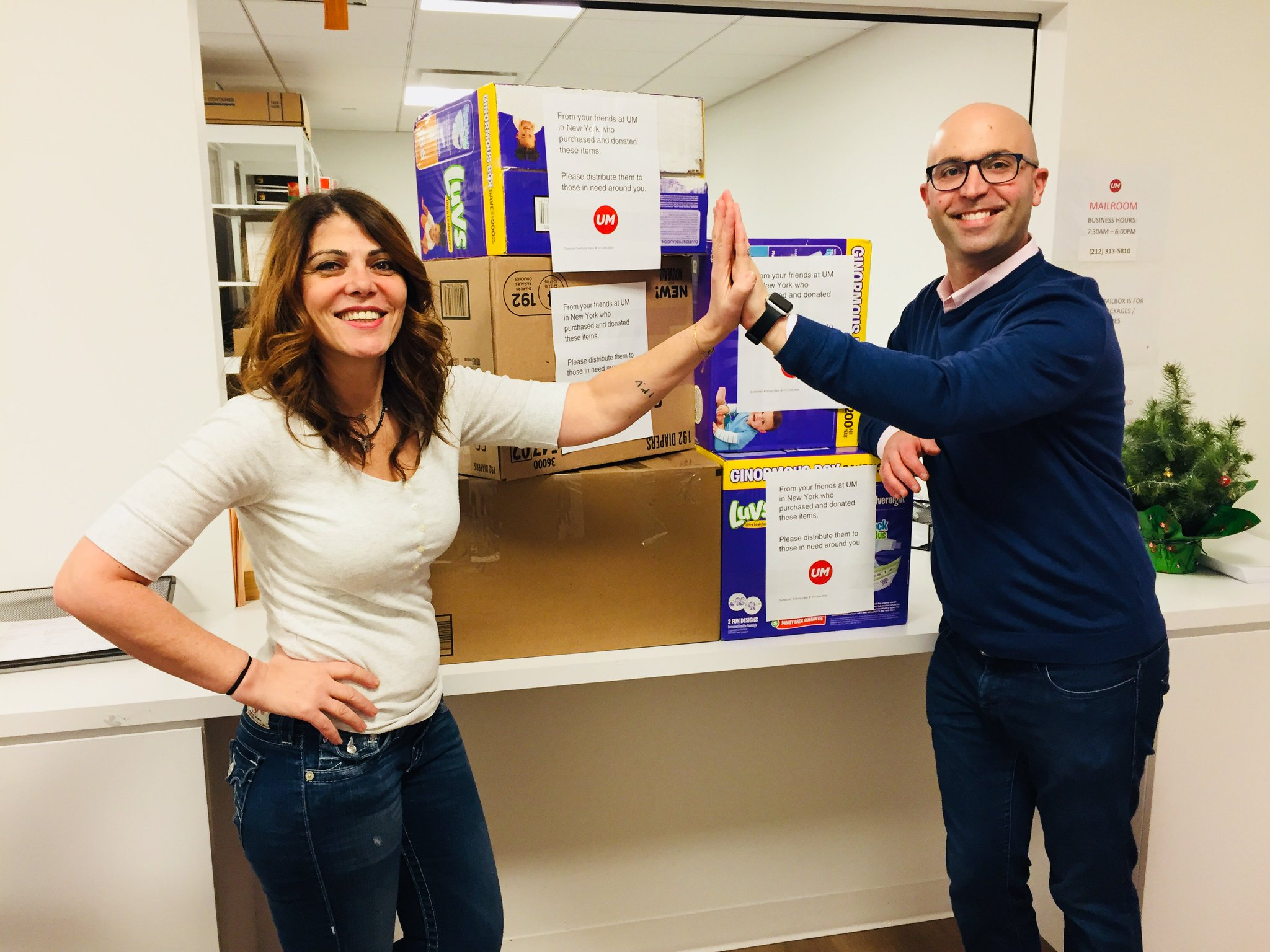 A big high five to UM NYers who purchased and donated  items for Puerto Rico families and friends of our employees! https://t.co/UWhUANq2jY