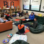 Grade 4 lunchtime book clubs today! Thank you to all of our facilitators! The students had a wonderful time! #swd123