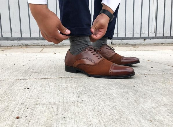 789d3311440 The seamless combination of smooth leather and suede will make you look like  a million bucks. #stacyadams #stacyadamsstyle #mensshoes #mensstyle ...