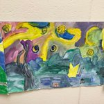 #swd123 It is a Starry Night in the middle of the day at Sward School thanks to our third graders!