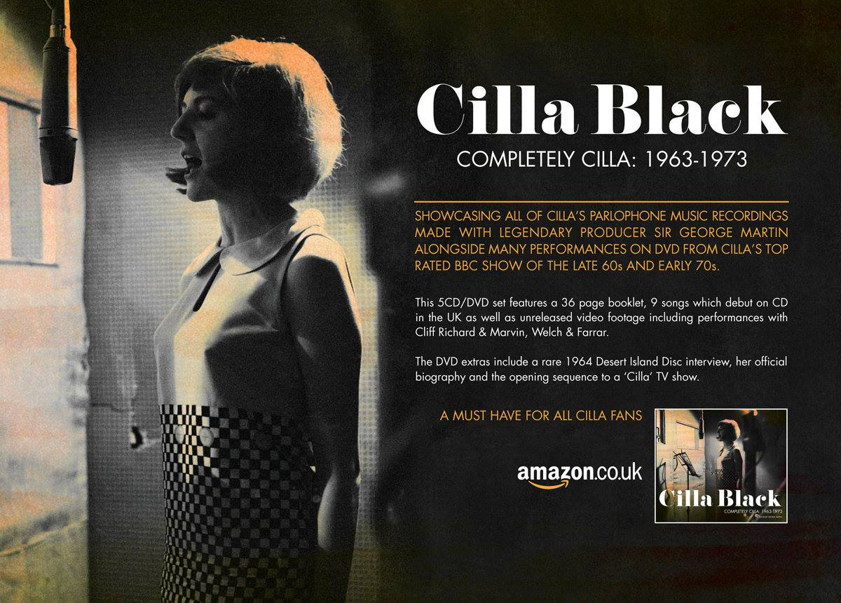 It features 139 re-mastered #CillaBlack recordings from 1963-1973. Better  still it comes with a 36-page picture booklet and bonus DVD of rare footage.