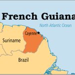 French Guiana, Overseas region and department of France, North Atlantic Coast of South America