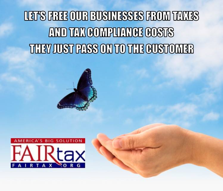 US exports are 18-24% more than our competitors due to embedded tax &amp; compliance costs. @realDonaldTrump @Mike_Pence @larry_kudlow @SarahHuckabee time for #FAIRtax #TrueTaxReform #MTFA @FoxBusinessAM  @MariaBartiromo @dagenmcdowell @MorningsMaria @GovMikeHuckabee<br>http://pic.twitter.com/USHqEybBWu