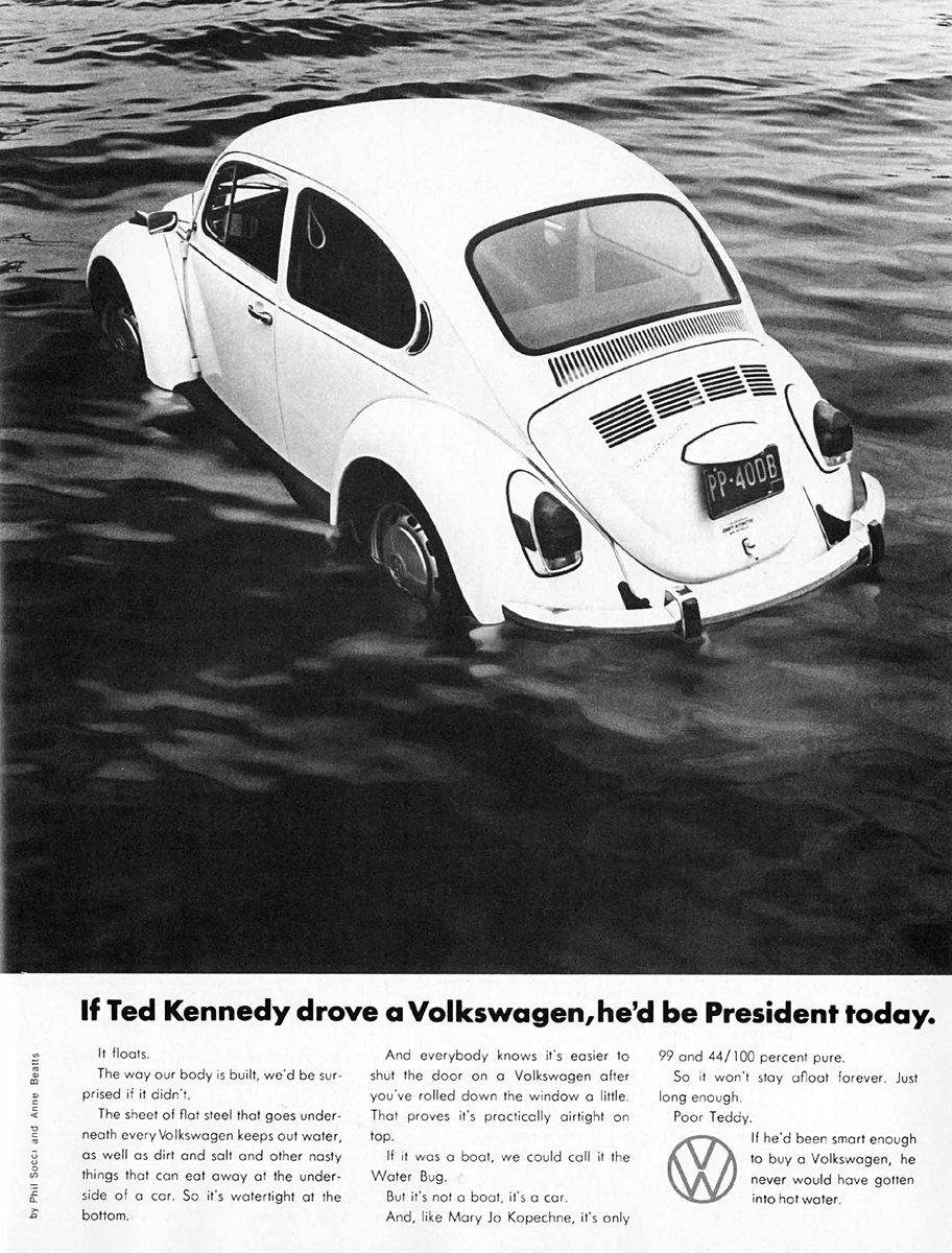 Image result for ted kennedy volkswagen ad