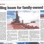 Article in todays Kalgoorlie Miner newspaper regarding Raglan Drilling and their specialised lake Drilling rig with a short note on $LEX