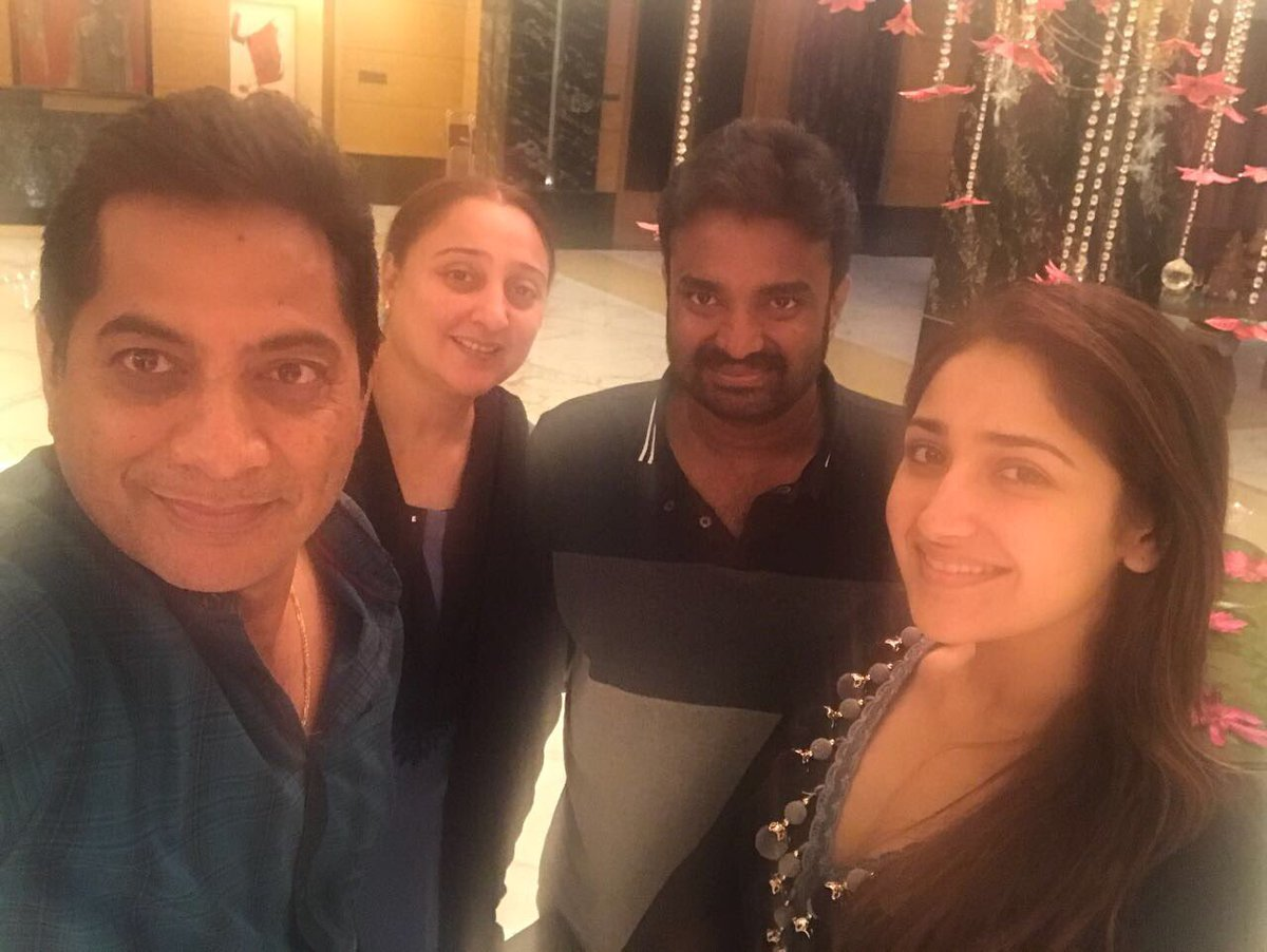 Sayyeshaa goes for a Dinner with her Director - Photos Proof Inside