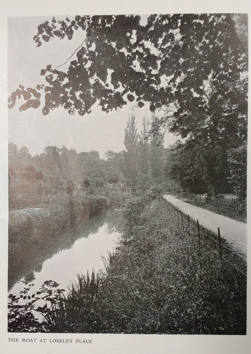 Another archive gem for Throwback Thursday! From a 1911 edition of The Architectural Review this is a lovely shot of the moat towards the Bothy, then called the Summer House! Interestingly, the article was entitled The Gardens of Loseley Place – not sure when Place became Park!