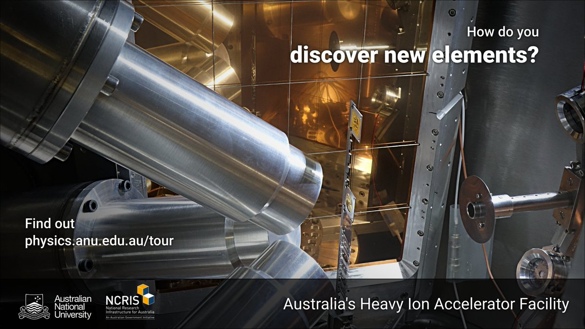 Physicsanu on twitter how do you discover new elements for the for the periodic table find out on the virtual tour of our accelerator httpphysicsutour videos 360deg photos facts more scienceanu urtaz